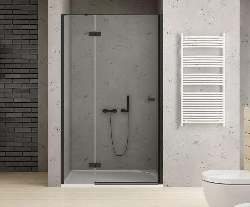 Drzwi prysznicowe lewe uchylne New Trendy Reflexa Black