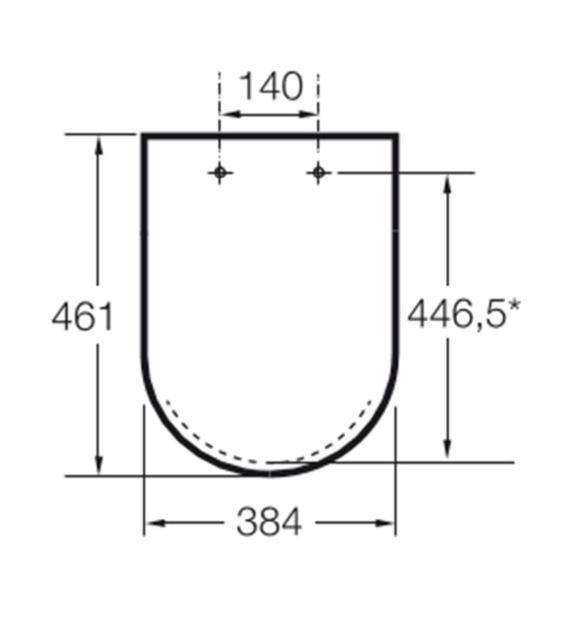 Deska wolnoopadająca SUPRALIT 38,4x46,1 cm Roca Beyond rysunek