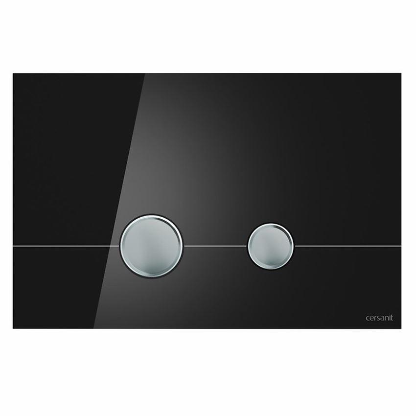 Przycisk szkło czarne Cersanit Stero