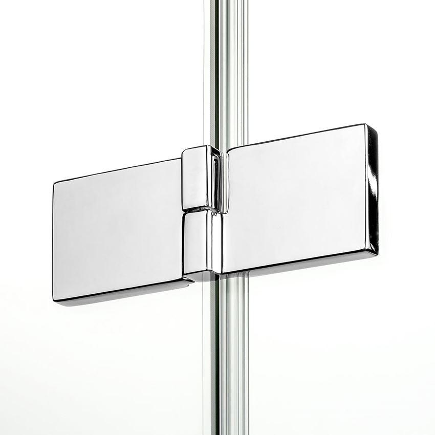 Zawias zlicowany ze szkłem do kabiny prysznicowej New Trendy Reflexa