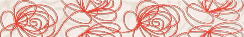 Listwa ścienna 44,8x7,1 cm Tubądzin Wave Modern red