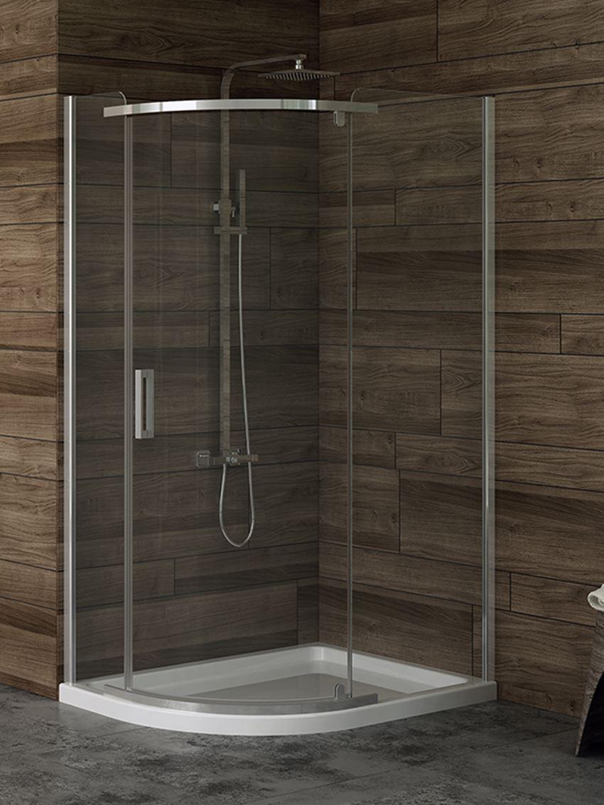 Kabina prysznicowa asymetryczna New Trendy New Komfort