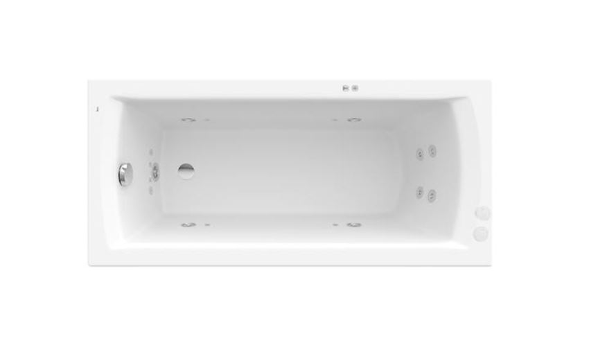 Prostokątna wanna akrylowa z hydromasażem Smart Water Plus Roca Linea