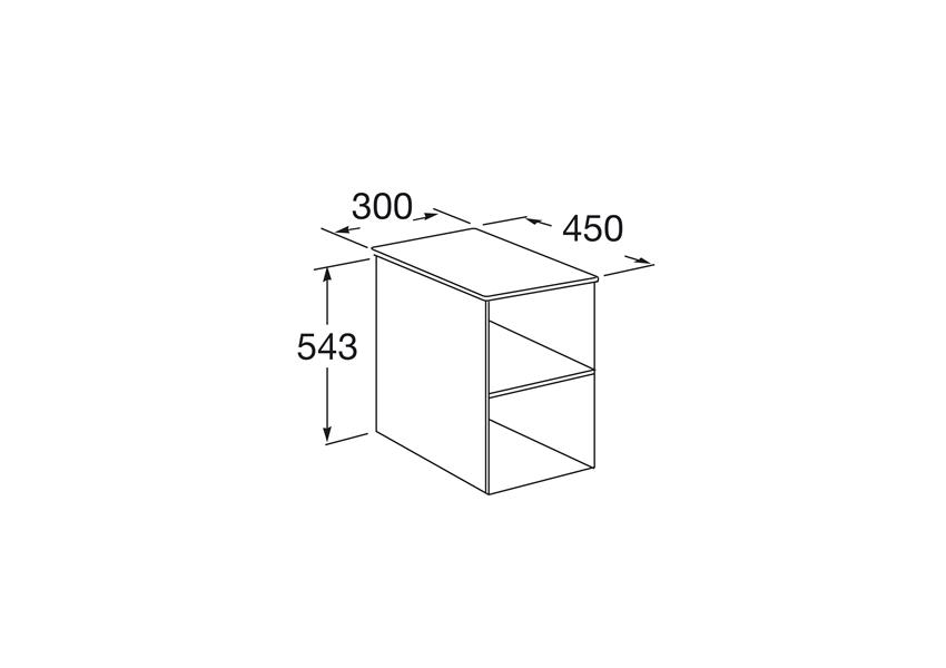 Kontener otwarty rysunek 30 cm Roca Victoria Basic
