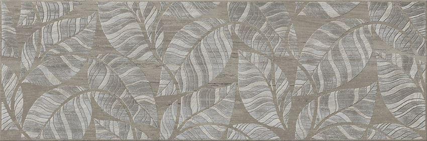 Płytka dekoracyjna 19,8x59,8 cm Cersanit Livi nut inserto leaves