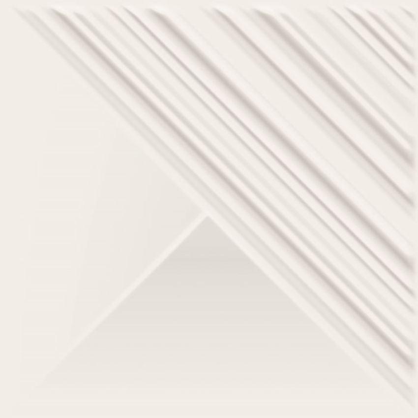 Płytka ścienna 19,8x19,8 cm Paradyż Feelings Bianco Ściana Struktura Połysk