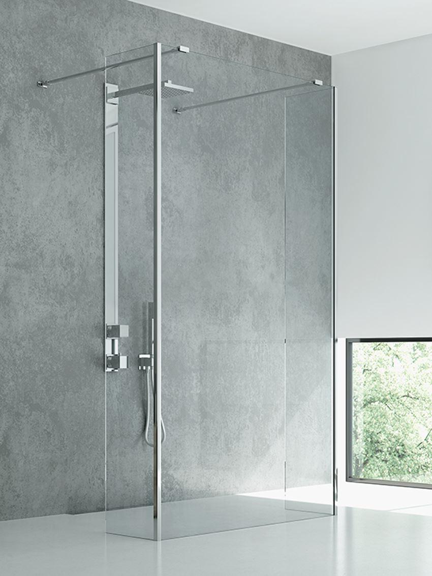 Szklana ścianka prysznicowa kabiny typu walk-in New Modus