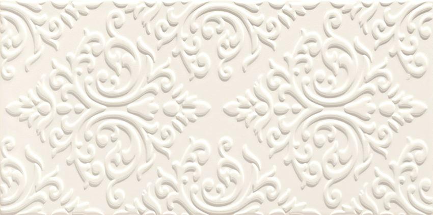 Dekor ścienny 44,8x22,3 cm Domino Delice white STR