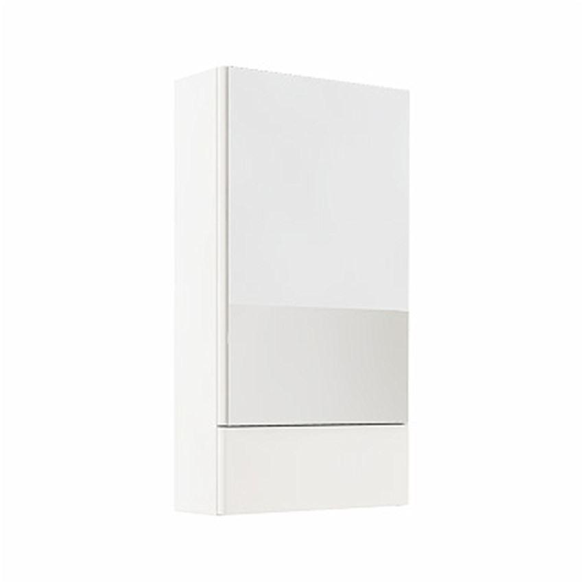 Szafka wisząca z lustrem 46,4x85x17,6 biały połysk Koło Nova Pro