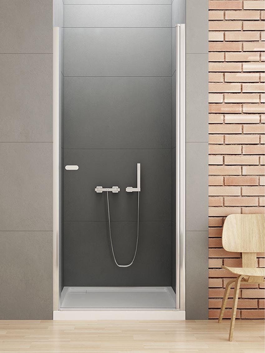 Drzwi wnękowe wahadłowe do prysznica New Trendy New Soleo