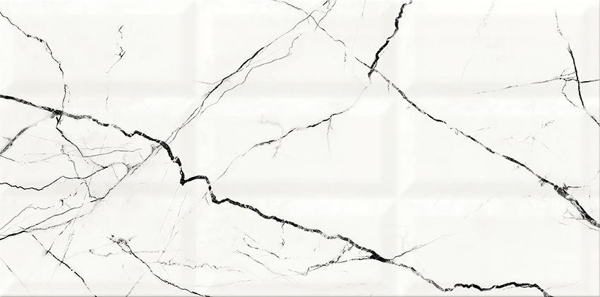 Płytka ścienna 29,7x60 cm Cersanit Arce White Strucutre Glossy
