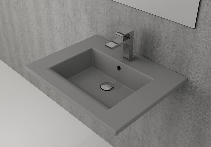 Umywalka ścienna/meblowa/nablatowa 60 cm Matt Grey Bocchi Milano