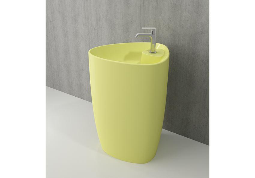 Umywalka monoblok Matte Yellow Bocchi Etna
