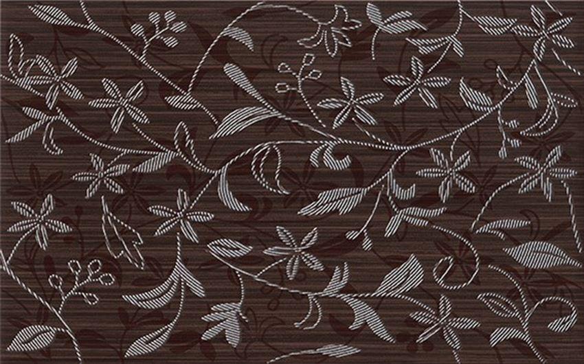 Płytka dekoracyjna 25x40 cm Cersanit Tanaka brown inserto flower