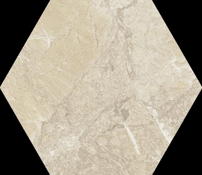 Dekoracja podłogowa 17,1x19,8 cm Paradyż Tosi Beige Hexagon Poler
