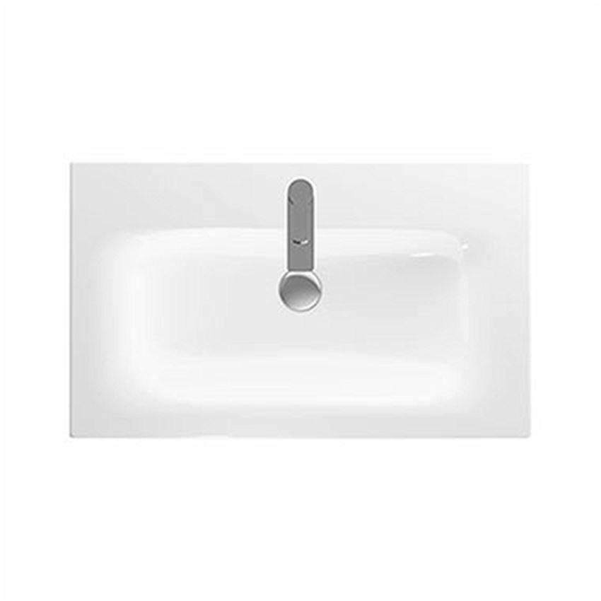 Umywalka meblowa 80 cm z niskim rantem z otworem i przelewem Koło Nova Pro Premium