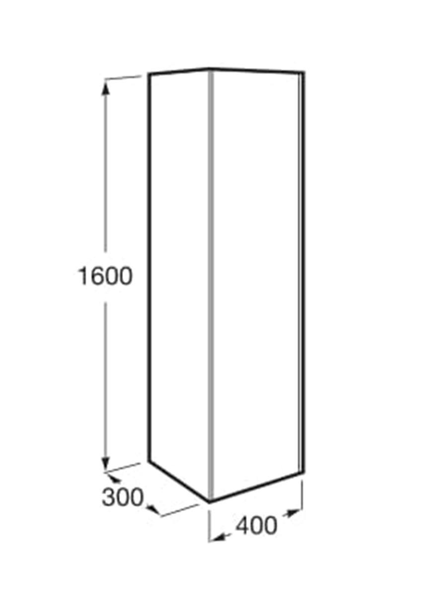 Kolumna wysoka - wersja prawa 40x30x160 cm Roca Inspira rysunek