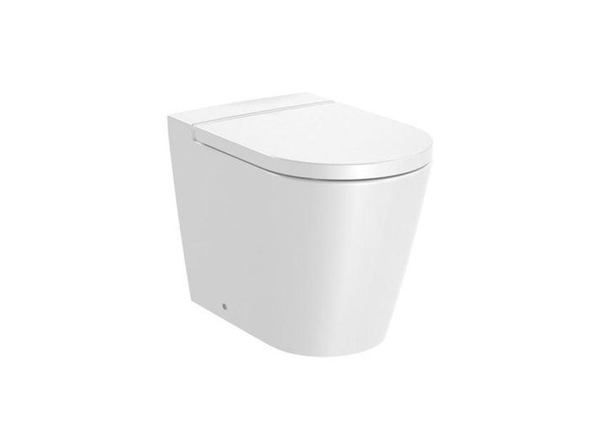 Miska WC stojąca Round Rimless 37x56x44 cm Roca Inspira