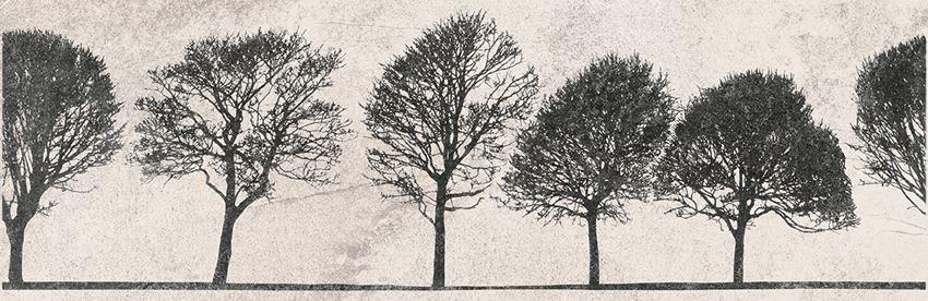 Płytka dekoracyjna 29x89 cm Opoczno Willow Sky Inserto Tree