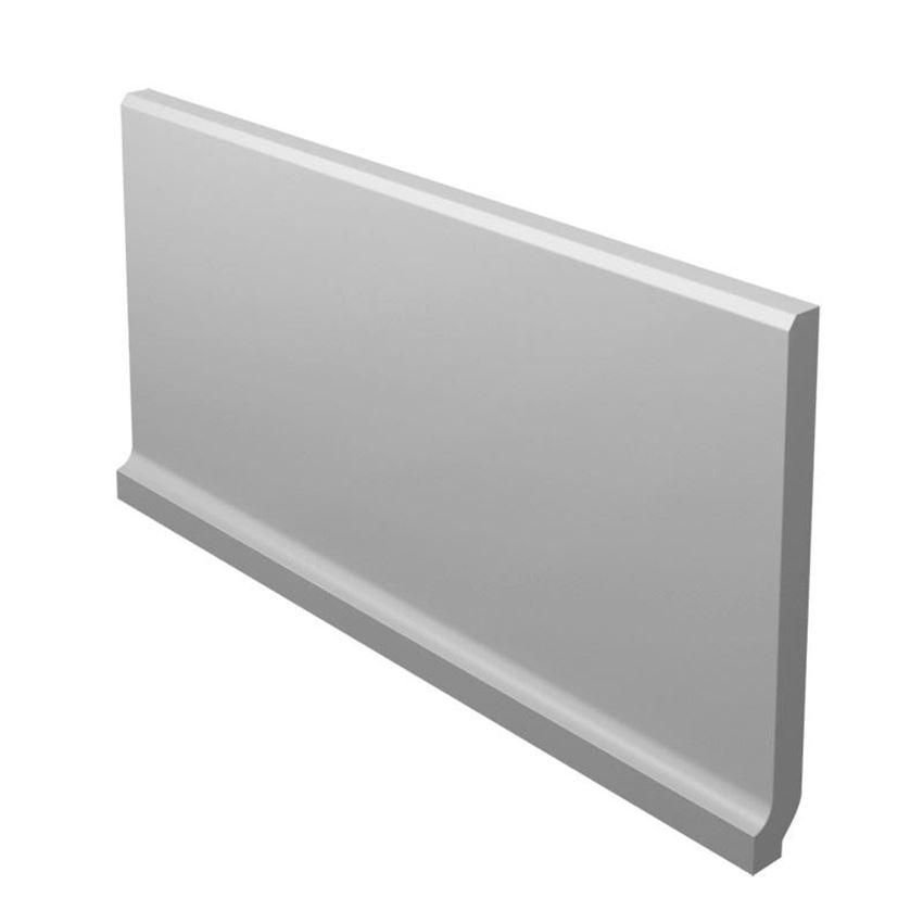 Dekoracja podłogowa 10x19,8 cm Paradyż Bazo Grys Cokół Wywinięty Monokolor Mat