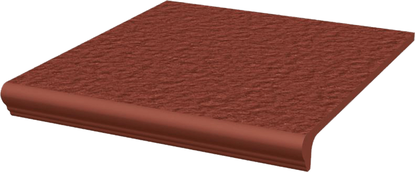 Płytka stopnicowa 30x33 cm Paradyż Natural Rosa Kapinos Stopnica Prosta Duro