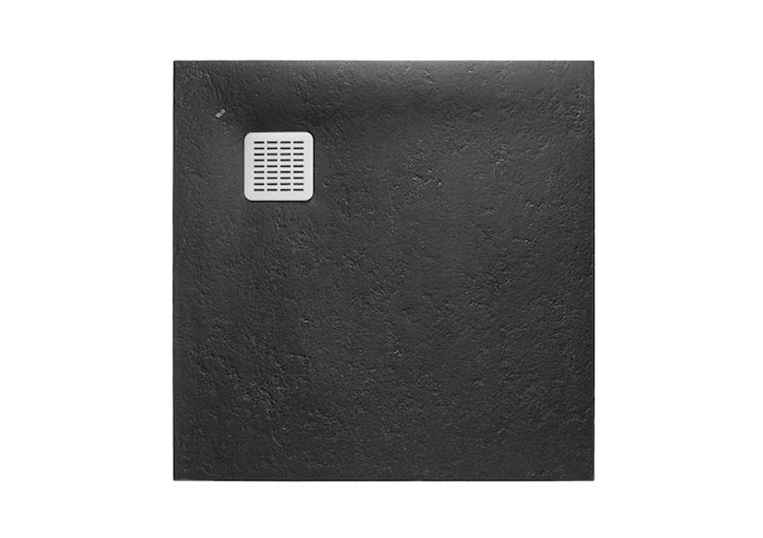 Brodzik kompozytowy STONEX® 100x100x2,8 cm czarny Roca Terran