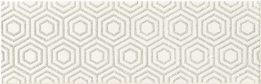 Dekor ścienny 23,7x7,8 cm Domino Burano bar white A