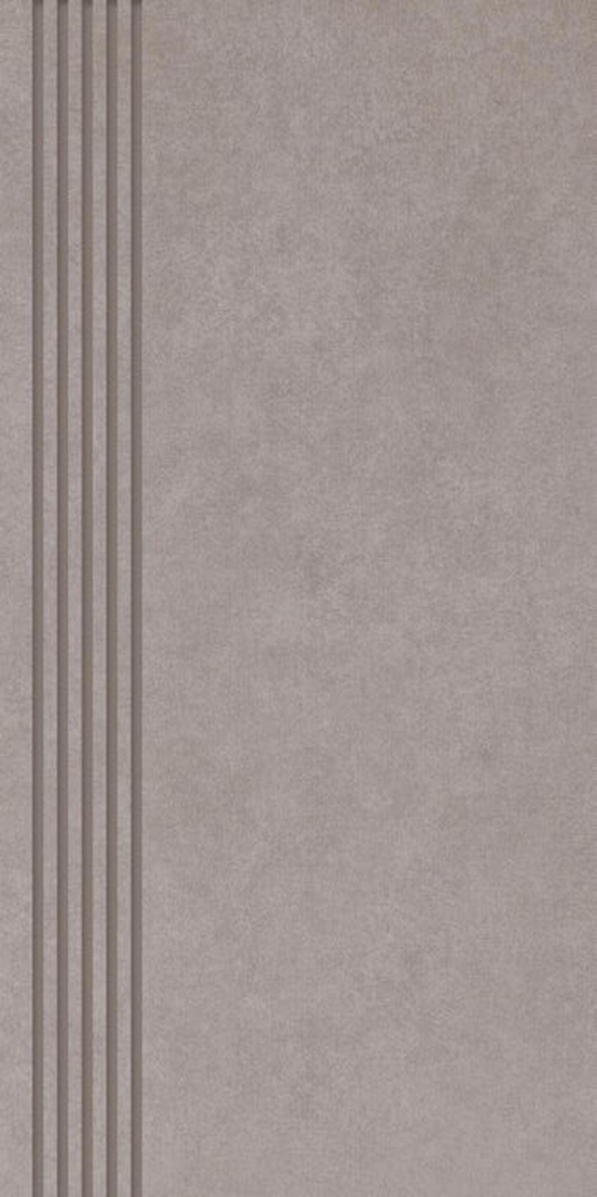 Płytka stopnicowa 29,8x59,8 cm Paradyż Tero Brown Stopnica Prosta Nacinana Półpoler