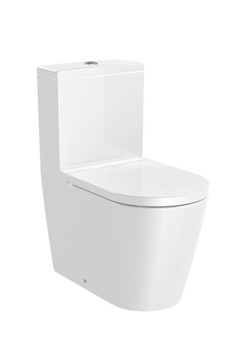 Miska WC do kompaktu Rimless odpływ podwójny Roca Inspira