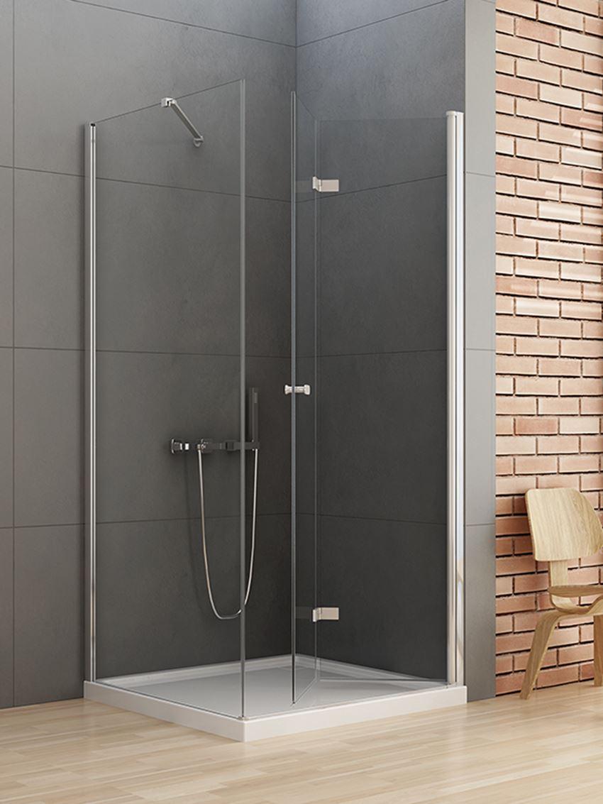 Kabina prysznicowa New Soleo z pojedynczymi drzwiami składanymi