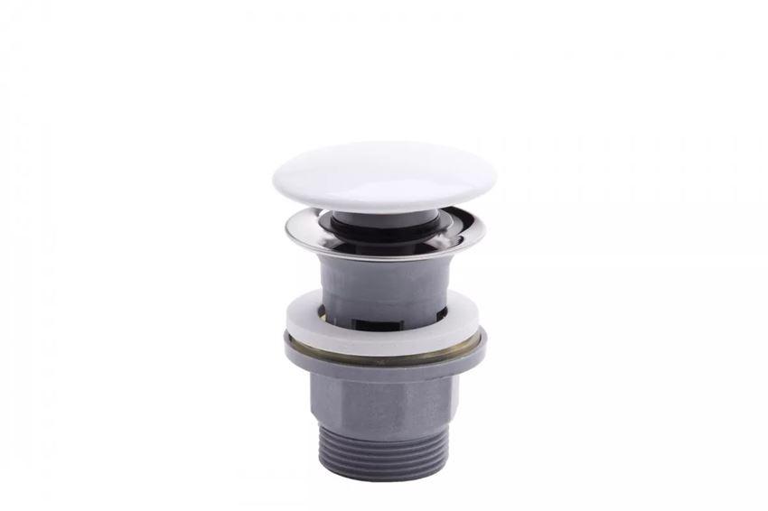 Korek Click-clack polipropylen biały ceramiczny FDesign Kleome