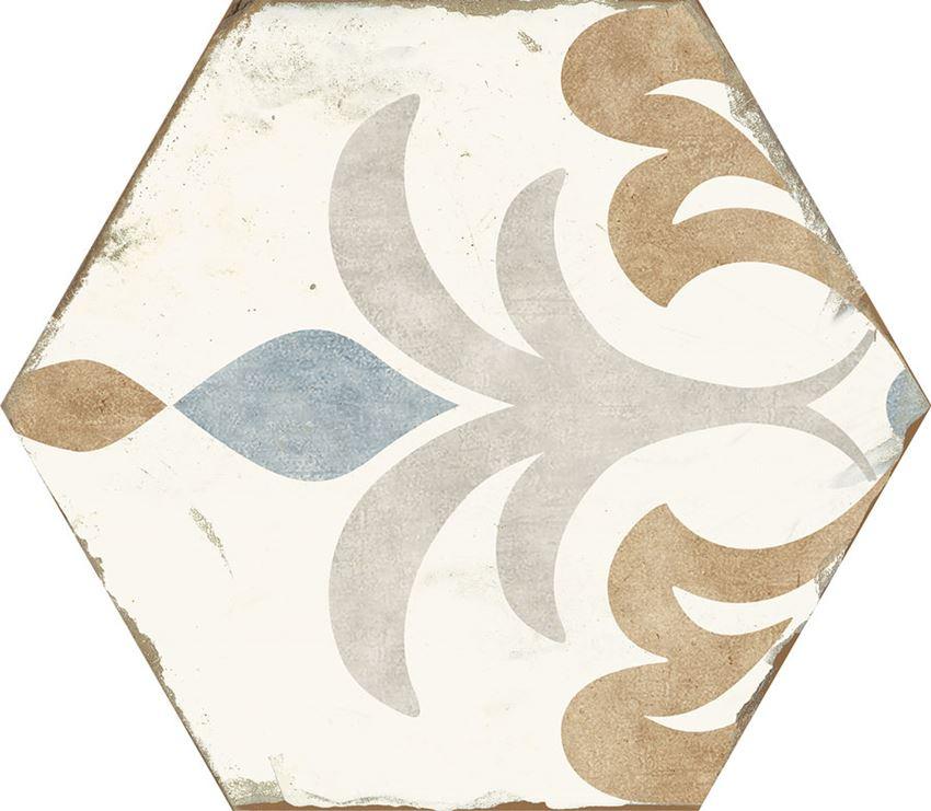 Płytka dekoracyjna 21x25 cm Azario Bohemia Lola Gres Mat