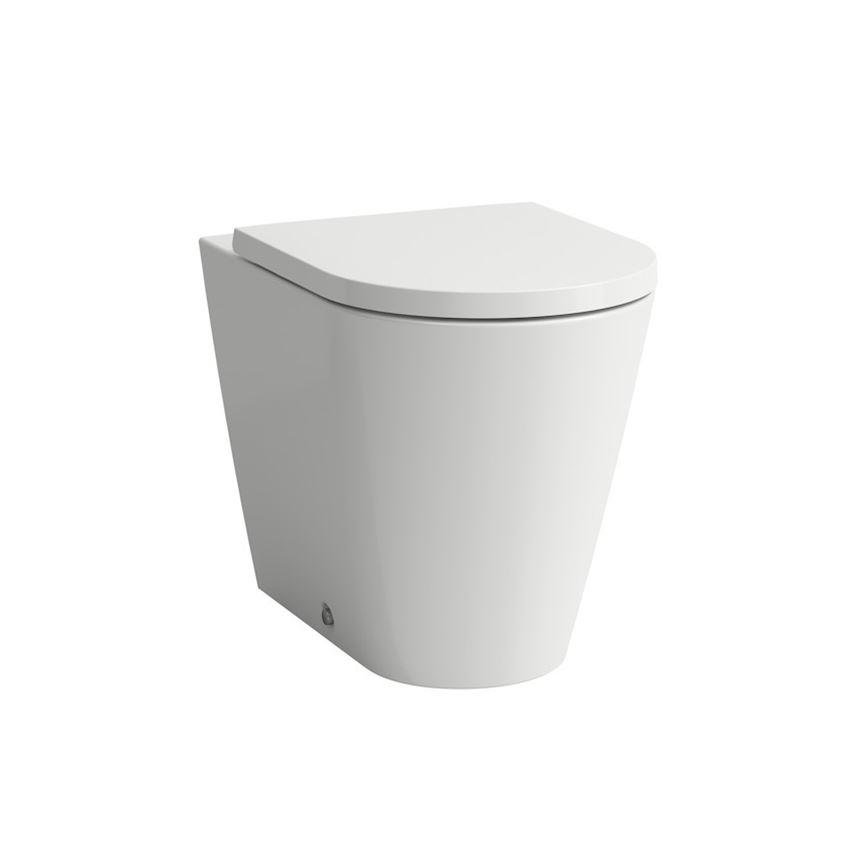 Miska WC stojąca rimless lejowa bezkołnierzowa odpływ podwójny Laufen Kartell