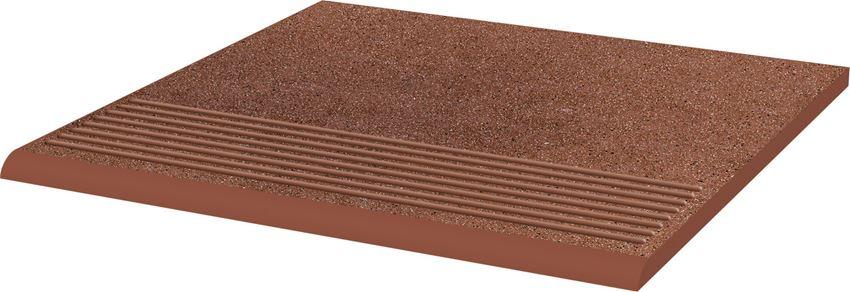 Płytka stopnicowa 30x30 cm Paradyż Taurus Brown Stopnica Prosta