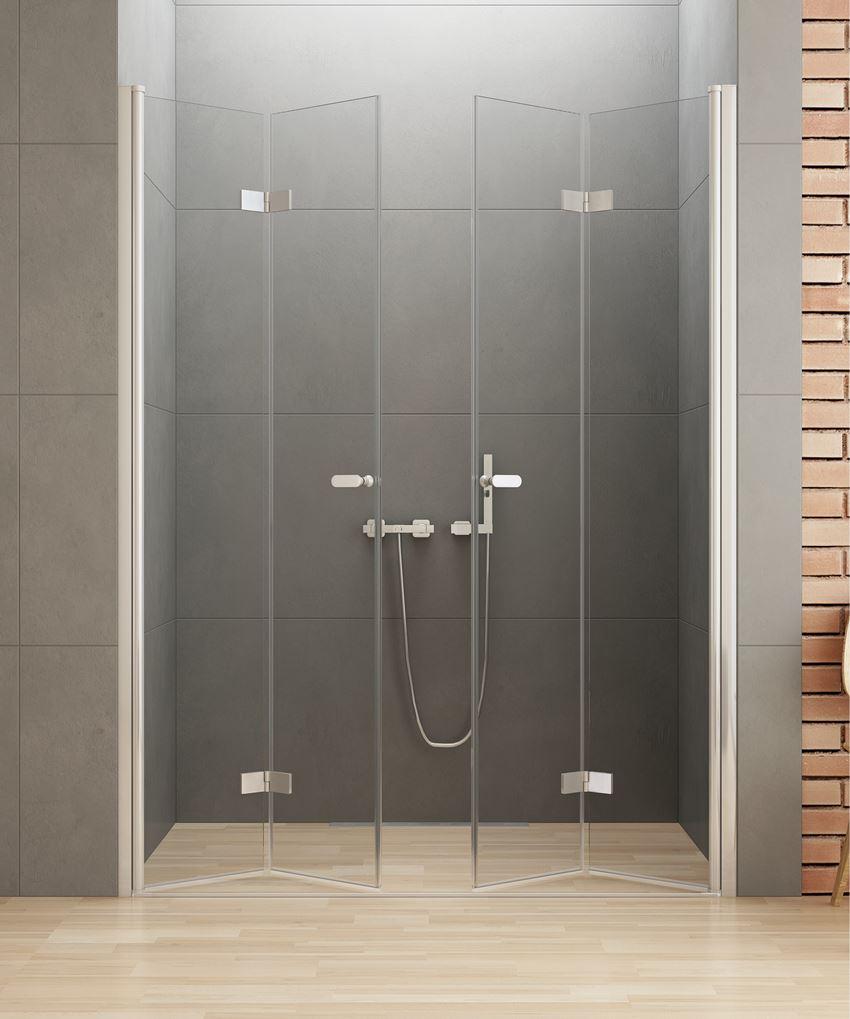 Drzwi prysznicowe podwójne składane New Trendy New Soleo