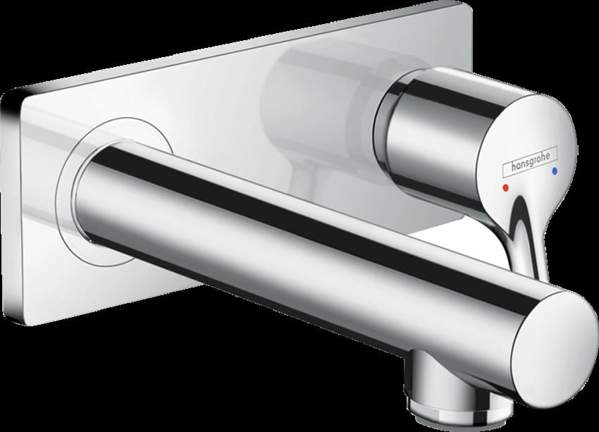 Jednouchwytowa bateria umywalkowa montaż ścienny podtynkowy element zewnętrzny Hansgrohe Talis S