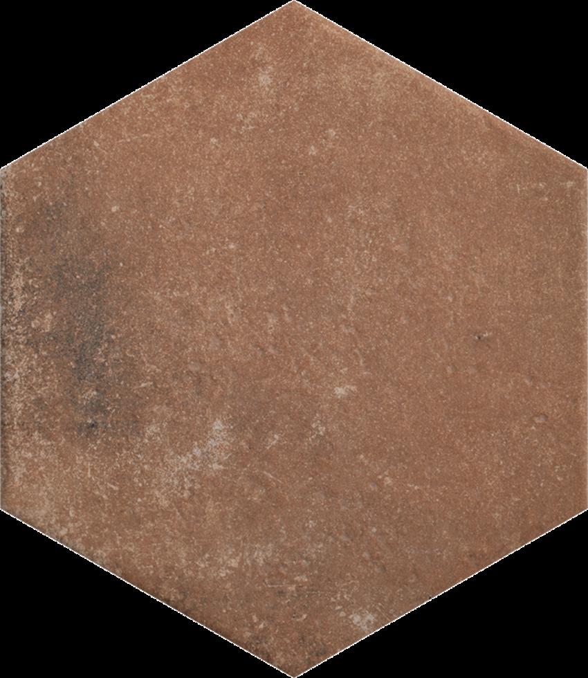 Płytka podłogowa 26x26 cm Paradyż Scandiano Rosso Heksagon