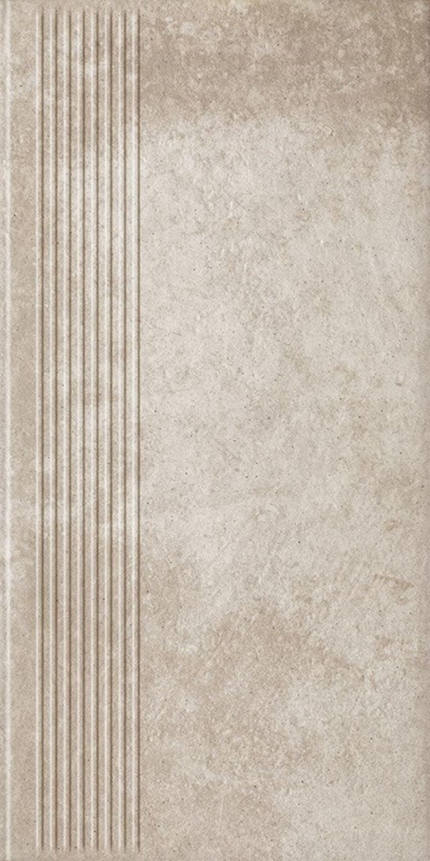 Płytka stopnicowa 30x60 cm Paradyż Viano Beige Stopnica Prosta