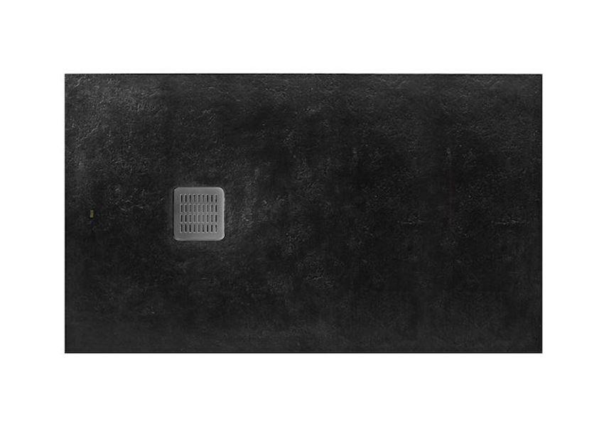 Brodzik kompozytowy STONEX® 160x100x3,1 cm, czarny Roca Terran