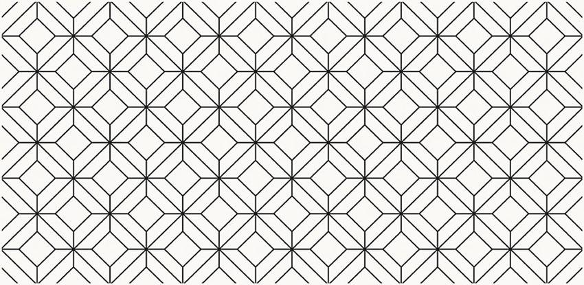 Dekoracja ścienna 29x59,3 cm Opoczno Black Glamour Inserto Geo