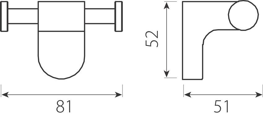 Szklanka podwójna Ferro Audrey rysunek techniczny