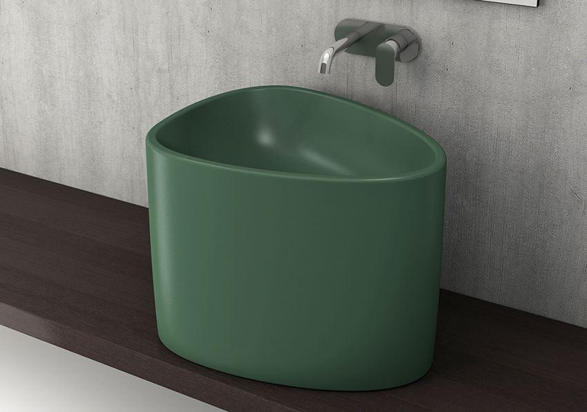 Umywalka nablatowa Matte Green Bocchi Etna