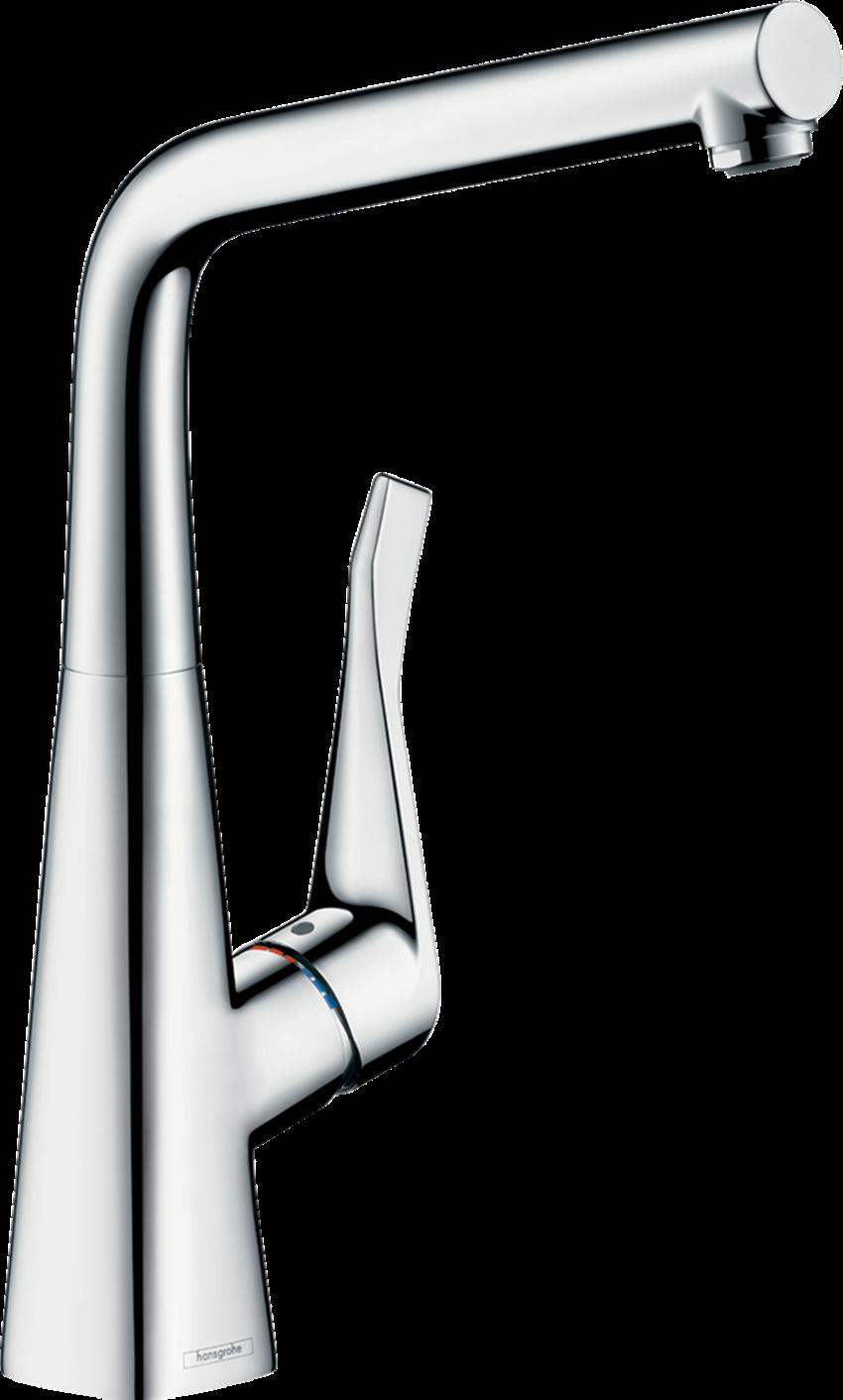 Jednouchwytowa bateria kuchenna 320 do instalacji pod oknem Hansgrohe Metris M71
