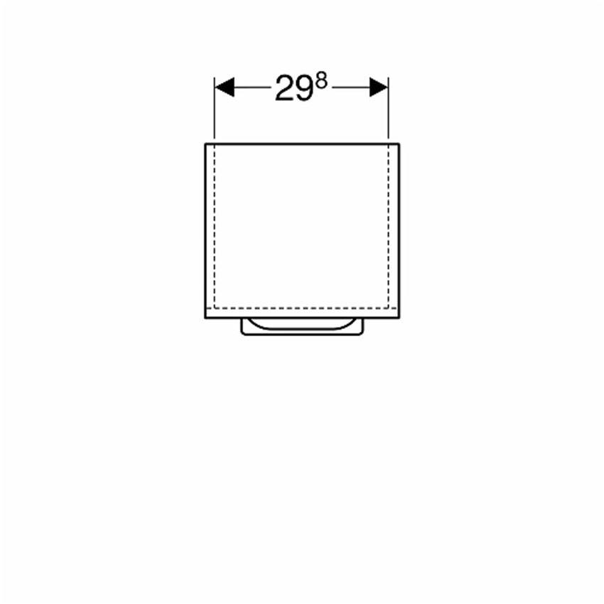 Szafka wisząca boczna 33x65x29,7 cm Koło Nova Pro Premium rysunek