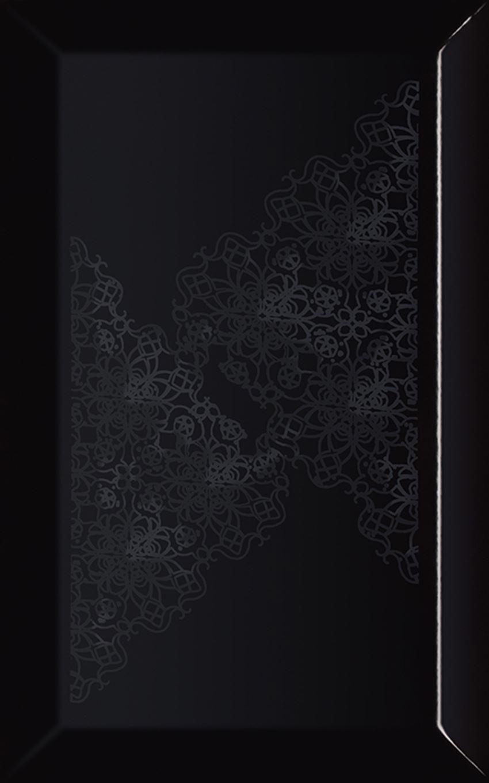 Dekoracja ścienna 25x40 cm Paradyż Veo Nero Inserto Kafel Koronka