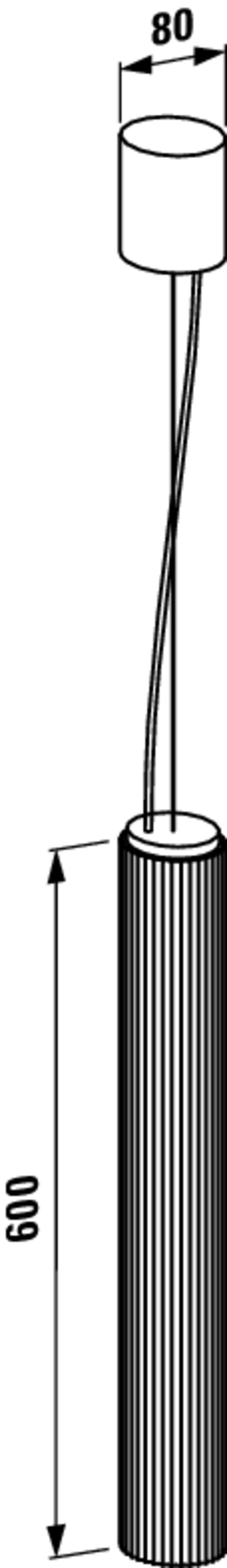 Lampa wisząca 60 cm Laufen Kartell rysunek techniczny