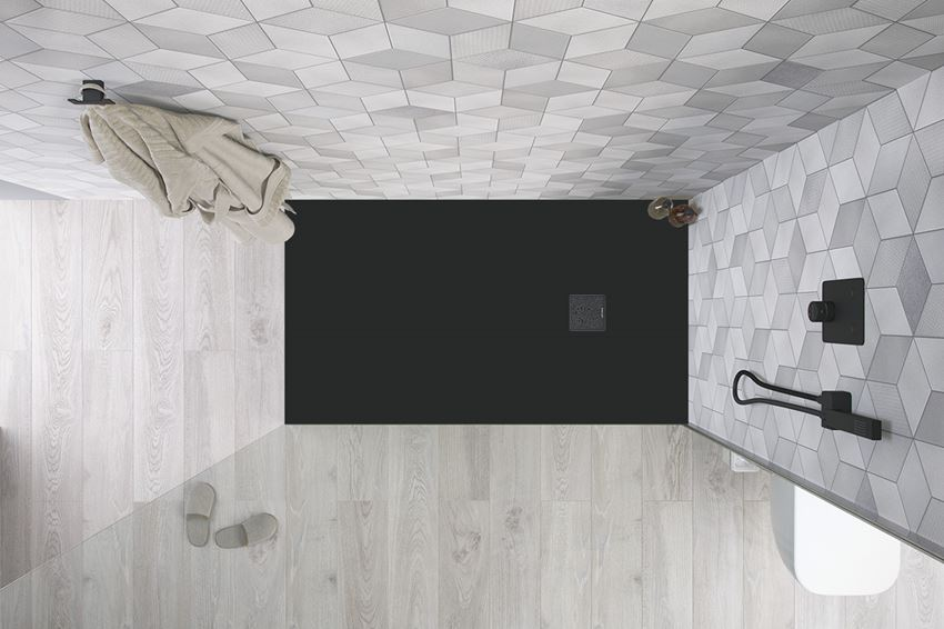 Brodzik prostokątny czarny 120x90 cm Excellent Arda