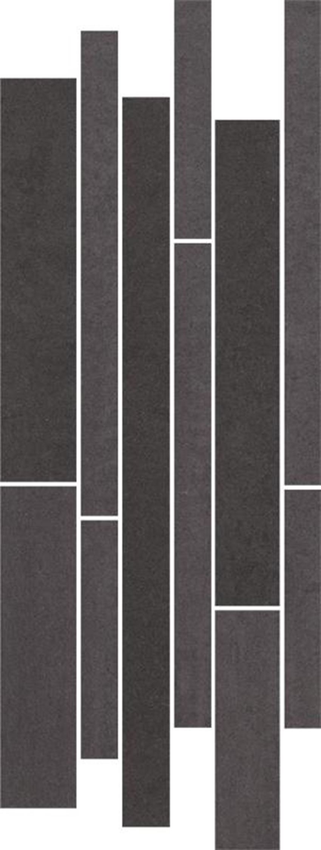 Dekoracja podłogowa Paradyż Doblo Nero Listwa Mix Paski