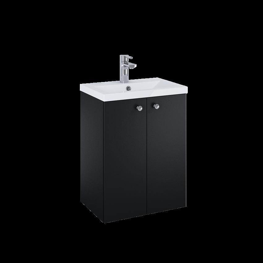 Szafka z umywalką 49,6x35,8x67,3 cm Elita Kido 2D Black Matt
