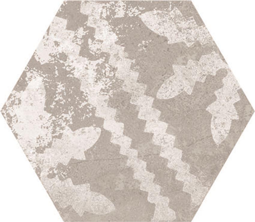 Płytka podłogowa hexagonalna, 21,6x24,6 cm Azario Ingma Grey Decor Hexagono